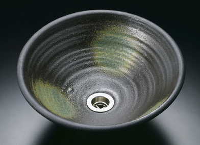灰釉│真山窯の美濃焼陶芸手洗い鉢